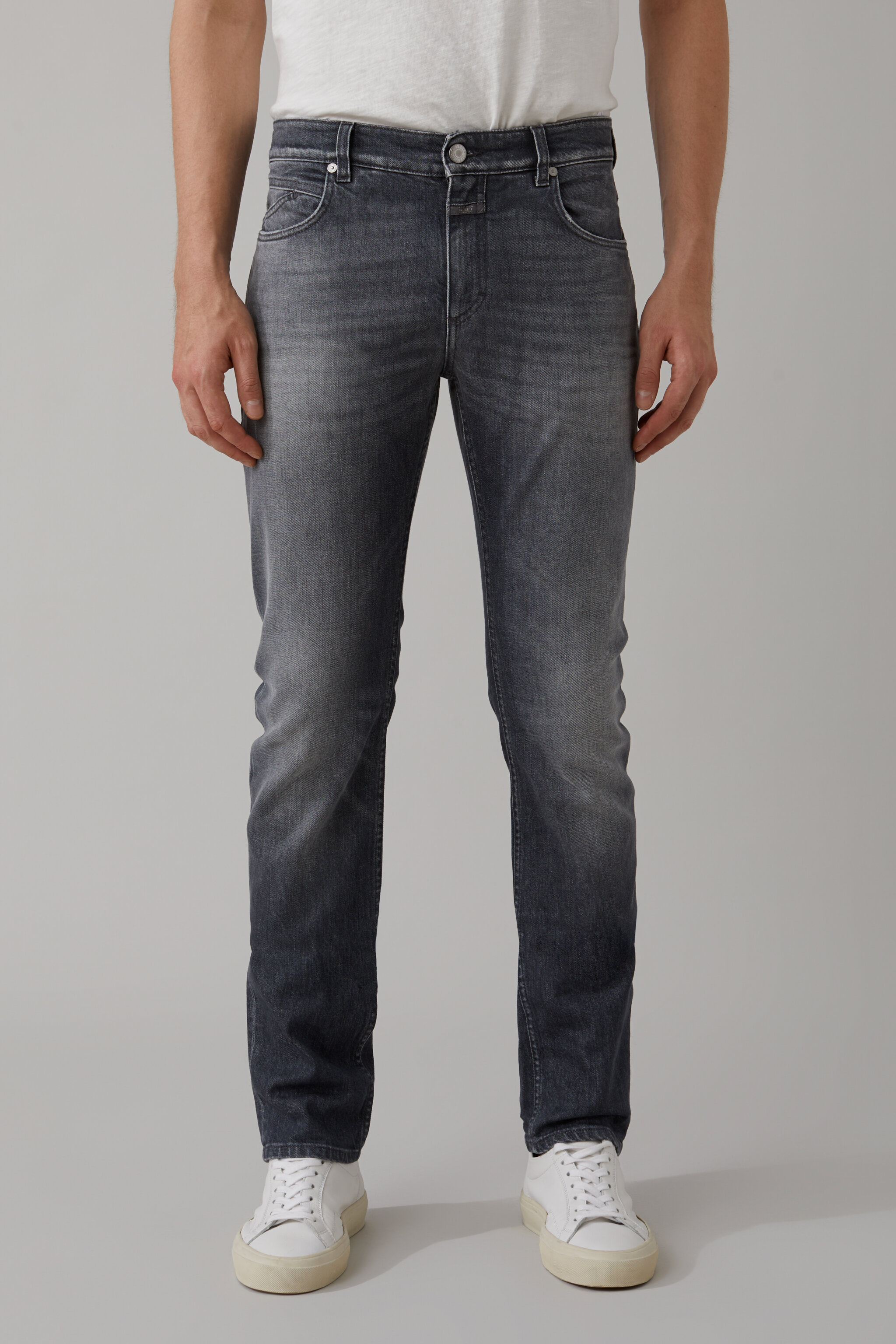 Herren CLOSED Unity Slim Grey Denim | 4054736649763