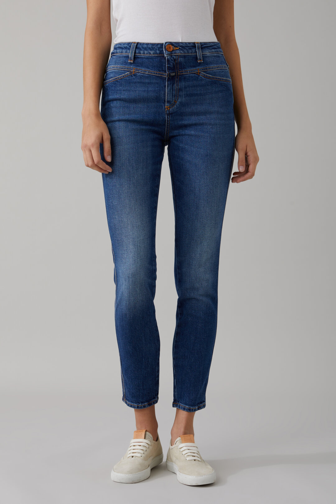 Skinny Pusher Blue Stretch Denim
