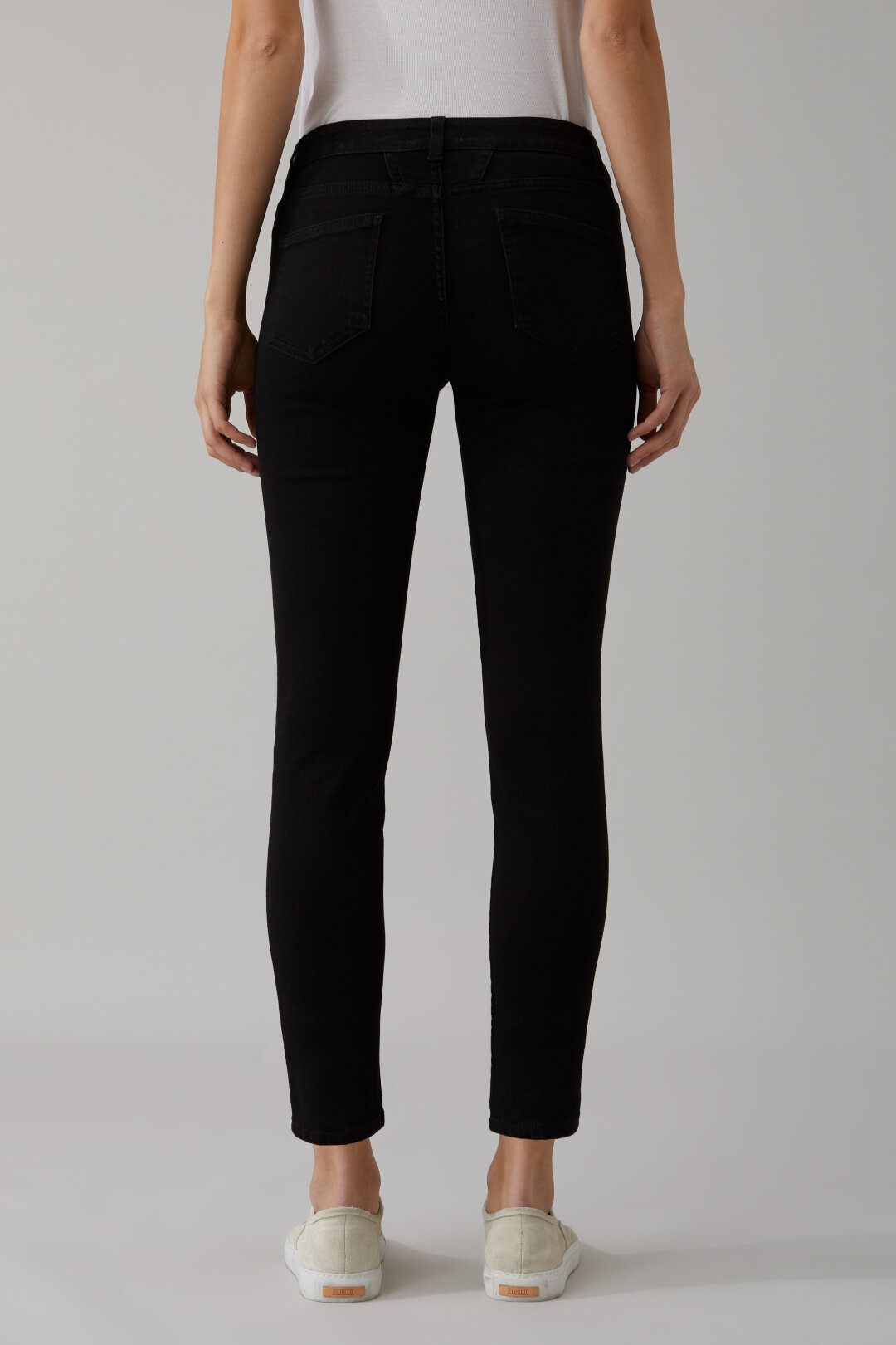 Baker Black Satin Denim Power Stretch